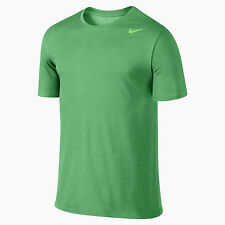 $25 Nike 706625-342 Men's Dri-FIT Cotton Tee T-shirt Spring Leaf Green / Volt S