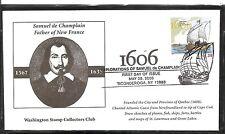 US SC # 4073 Samuel De Champlain FDC. Washington Stamp Collectors Club Cachet