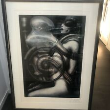 signed limited edition fine art print signed by H.R. Giger of 380/495- Framed