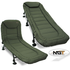 NEW NGT Carp Fishing BedChair 6 Legs Built in Pillow Bed Chair For Bivvies