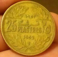 Lebanon 1952 25 piastres KM#16 Cedar Tree Libanaise middle east Liban coin -8