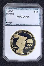 1983-S PR70DCAM OLYMPIC $1 SILVER Commemorative Bald Eagle