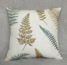 """John Lewis Cushion Cover//16/""""x16/""""//DOUBLE SIDED  WILD WOVEN Fabric Duck Egg"""
