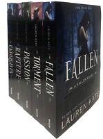 Lauren Kate Fallen Series 5 Books Collection Set Inc Fallen,Torment, Passion-NEW