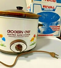 Rival 4 quart Crock Pot Slow Cooker Kitchen Appliances