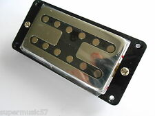 Chrome Guitar Neck  H Toaster Humbucker Pickup with Black Surround & all Screws