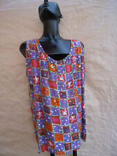 90S Tank Top Colorful Sequins Stars Festival Burner Purple First Edition Sample