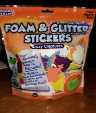 Foam and Glitter Stickers, Crazy Creatures by Horizon Group