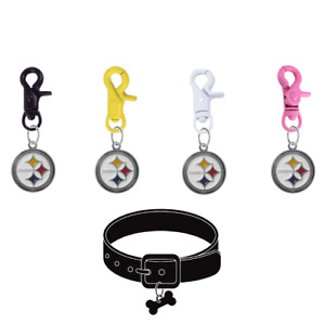 Pittsburgh Steelers Pet Tag Collar Charm COLOR EDITION Football Dog Cat