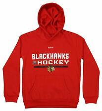 Chicago Blackhawks NEW Youth Medium Performance Hooded Sweatshirt NHL Hockey NWT