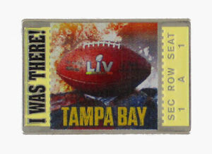 2021 I Was There NFL Super Bowl LV Tampa Bay Seat Location Football Pin