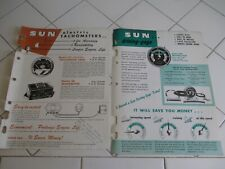 1952 1953 Sun Electric Tachometers Sun Driving Gage Catalogs 6 pages total Rare!