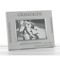 Grandchildren Satin Silver Photo Frame - Grandkids