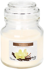 Vanilla Candle Scented Gift Packed Glass Jar Chrome Lid Wax Burn Home Relax