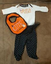 3pcs Newborn Infant Baby Halloween outfit