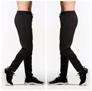 New Men's Athletic Soccer Training Football Sweat Skinny Pants Sports Trousers