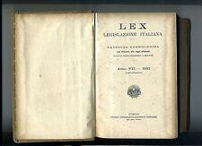 LEX - Legislazione Italiana Anno VII 1921 Luglio-Dicembre # UTET 1922