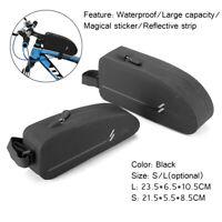 Waterproof Bike Bicycle Bag Cycling Top Tube Frame Bag Large Capacity Zip  √ !*