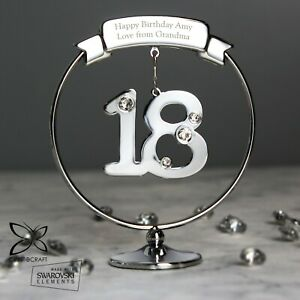 Crystocraft Big Age Personalised Message Ornament Birthday Gift Present for Her