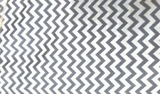WHITE FABRIC WITH SMALL GRAY CHEVRON, 8 1/2  YD. WITH A 2 YD. MINIMUM; $6.50 YD.