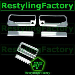 88-98 CHEVY C+K 1500+2500+3500 Triple Chrome 2 Door Handle+PSG KH+Tailgate Cover