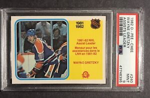 1982 O-PEE-CHEE OPC Wayne Gretzky #240 Assist Leaders HOF PSA 9 MINT