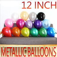 Latex Metallic Pearl Quality Party Birthday Wedding 12 Inch BALLOONS