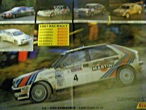 1987 PIRELLI LOMBARD RAC RALLY POSTER AFFICHE LANCIA DELTA HF JUHA KANKKUNEN