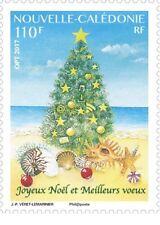 caledonia 2017 caledonie Merry Christmas Best Wishes shell fir noel 1v mnh **