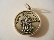 """St. Michael Police Officer Serve & Protect Medal New  Made in Italy  3/4"""" round"""