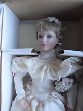 "Beautiful Ashton Drake Porcelain Lisa Blond Hair Bride Character Doll 20"" in Box"
