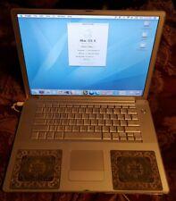 "Apple PowerBook A1095 15.2"" Laptop 2004 1.5ghz 512mb 37gb dual boot backlit keys"