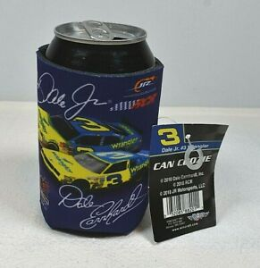 Blue & Yellow Dale Earnhardt Jr #3 Wrangler NASCAR Beer Can Coozie NEW Set of 6