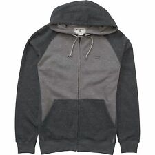 2016 NWOT MENS BILLABONG BALANCE ZIP FLEECE HOODIE $55 L grey heather raglan