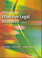 Nemes and Coss' Effective Legal Research by Lynette Falconer, Jill Cowley, Bruc…
