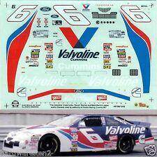 NASCAR DECAL # 6 VALVOLINE 1997 FORD THUNDERBIRD MARK MARTIN SLIXX