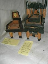 Massey   FOLK ART  Outsider  artist Chair  wood sculpture