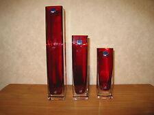 LEONARDO *NEW* Vase 36x6,5cm Rubis ( à gauche )
