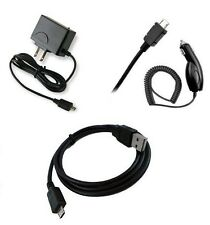 CAR+HOME CHARGER+CABLE ACCESSORY FOR STRAIGHT TALK ALCATEL ONE TOUCH POP ICON