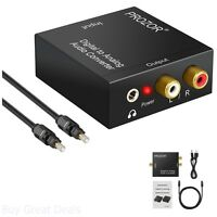 Digital To Analog Converter DAC Digital SPDIF Optical To Analog Stereo Audio New