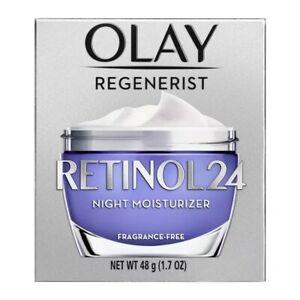 Olay Regenerist Retinol 24 Night Moisturizer Fragrance-Free 1.7 oz  New