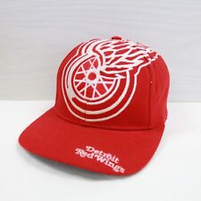 Vintage Detroit Red Wings The Game Wool Snapback Hat Size OSFA 90s NHL