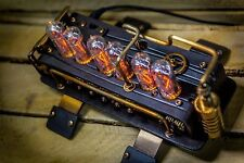 IN-14 Nixie Clock with 6 tubes Handmade Steampunk || IN-18 Z568M style || №40