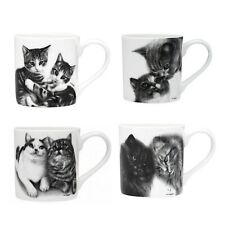 Cat Mug Cup Cats Kitten Animal Tea Coffee Drink Fine Bone China Gift Box 330ml
