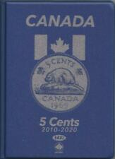 #143-2 UNI-SAFE COIN FOLDERS - CANADA 5 CENTS 2010 - 2020 Date
