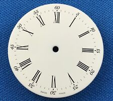 Unbranded White Watch Dial Part -Latin Numbers- 29.5mm -Swiss Made-  #710