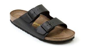 New BIRKENSTOCK ARIZONA (051793) Black Women Men Slippers Sandals All Sz