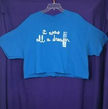 """***NWT the Notorious BIG """"Biggie"""" It Was All A Dream Blue Crop Top - XL***"""