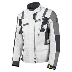HEVIK HJ2L305FG STELVIO LADY Jacke 2 Schichten Motorrad Grau Damen