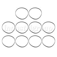 10x Flat Rubber Turntable Belt for Phono Record Player VCR Player Replacement